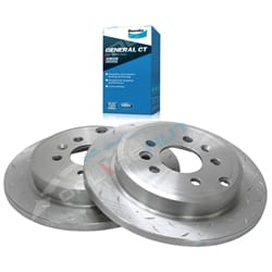 2 Rear Slotted+ Drilled Brake Rotors + Disc Pads Ford Falcon BA BF 2002-12 XT Farimont Fairlane LTD