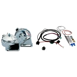 Stebel Chromed Twin Electric Horn Kit 12volt 136dB Chrome Horn + Relay + Wiring | ZPN-23443