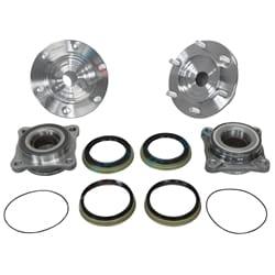 2 x Front Wheel Bearings + Stud Axle Hubs Kit suits Toyota Hilux GGN25R KUN26R TGN25 1GRFE 1KDFTV 2TRFE Petrol Diesel 4X4 2005~16 | 5337HUB-X-2
