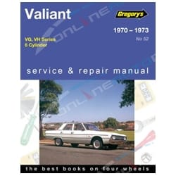 Gregory's Workshop Repair Manual Chrysler Valiant VG VH Series 6Cylinder 1970 1971 1972 1973 | 04052