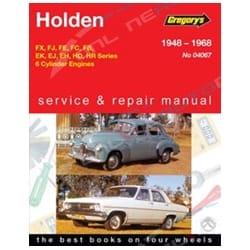 Gregory's Workshop Repair Manual Holden FX FJ FE FC FB EK EJ EH HD HR 1948 to 1968 Special Premier
