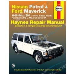 Haynes Car Repair Manual Book for Nissan Patrol GQ GR Y60 Petrol + Diesel Engine incl Safari | 72760