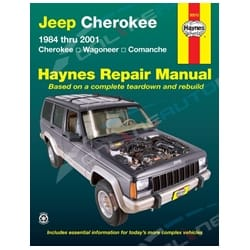 Haynes Car Repair Manual Book Jeep Cherokee XJ 1984-2001 Petrol 4.0L 6cyl Wagoneer Comanche | 50010