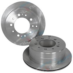 2 Rear Disc Brake Rotors suits Landcruiser HDJ100 UZJ100 4X4 HDJ100R UZJ100R Wagon 1998 to 2007