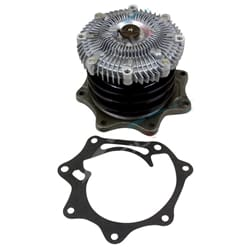 Water Pump suits Nissan Navara TD25 Engine D21 Twin Pulley with Fan Clutch Ute 1988 1990 1991   ZPN-01157