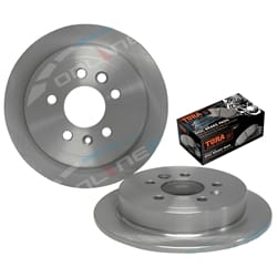 2 Rear Disc Brake Rotors Ford AU 9/1998 to 3/2000 Series 1 Falcon Fairmont Fairlane with Disc Pads | ZPN-03530