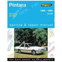 Gregory's Workshop Repair Manual Book suits Nissan Pintara R31 2.0L 1986 1987 1988 1989   04240