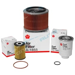 Sakura Filter Service Kit suits Nissan Patrol GU 4cyl ZD30DDT 3.0L Engine Air Oil & Fuel Filters 2000 to 2007 | K-18280