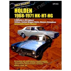 Workshop Car Repair Manual Holden HK HT HG 1968-71 Monaro Sedan Ute Wagon Book