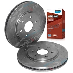 2 Front Disc Brake Rotors + Bendix Pads Pathfinder R51 V6 + Diesel 2006-12 4wd Nissan 295mm Rotors