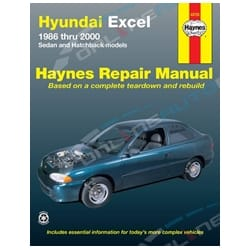 Haynes Car Repair Manual Book suits Hyundai Excel 1986-2000 X1 X2 X3 LS GL GLS Sprint LX GLX | 43725