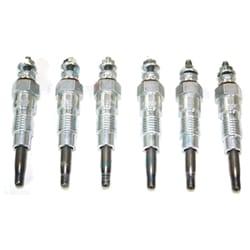 6 Glow Plugs 24 volt Nissan MK MQ G160 Patrol SD33 82-83 SD33T Turbo Diesel Set