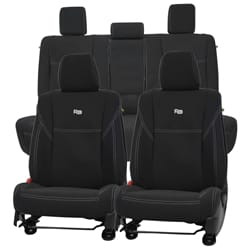 Seat Covers - Front + Rear Seat Cover Set Aftermarket Neoprene Seat Covers