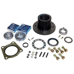 Rear Axle Hub Rebuild suits Landcruiser 40 60 70 Series Wheel Bearings, Studs Seals, Lock Nut + Washer | ZPN-03871