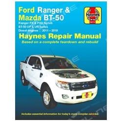 Haynes Car Repair Manual Book Ford Ranger PX Mazda BT-50 UP UR Diesel P4AT P5AT 2.2L 4cyl & 3.2L 5cyl Turbo Diesel 2011 to 2018   36772