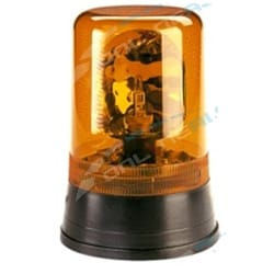 Narva 85420A Hi Optics Rotating Beacon Amber Light Flange Base 12V/24V