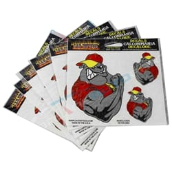 Muscle Dog Cart Car Tattoo Vinyl Window Decal Sticker - Pack of 6 | CT80012