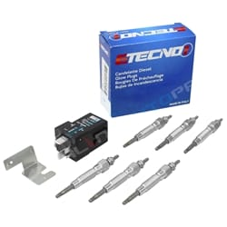 6 Glow Plug Set + Relay Conversion Kit Patrol GQ Y60 RD28T Diesel Turbo Nissan