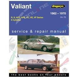Gregory's Workshop Repair Manual Chrysler Valiant R S AP5 AP6 VC VE VF 1962~1970 6Cylinder