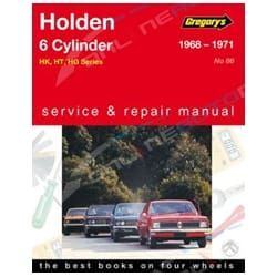 Gregory's Workshop Repair Manual Holden HK HT HG 6 Cylinder 1968 to 1971 161 186