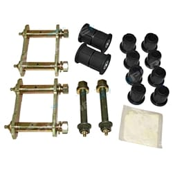 Greasable Shackle + Pin Bush Kit Holden Rodeo 4x4 1988-2008 Leaf Spring with Polyurethane Bushes | ZPN-14983