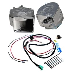 Stebel Magnum Electric Horn Kit 12 volt 136dB Twin Chrome Front + Wiring Harness | 11452138+