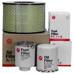 Air Oil Fuel Filter Service Kit suits Toyota Landcruiser 70 75 78 80 Series - Sakura 1990 to 2007   FKTLD7080