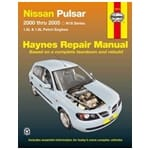 Haynes Car Repair Manual Book - Nissan Pulsar N16 2000-2005 QG16DE QG18DE 1.6L 1.8L Engines | 72774