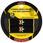 Official NRL North QLD Cowboys Steeering Wheel Cover & Seat Belt Buddies | ZPN-13448
