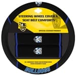 Official NRL Canterbury Bulldogs Steering Wheel Cover & Seat Belt Buddies | ZPN-13447