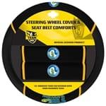 Official NRL Parramatta Eels Steering Wheel Cover & Seat Belt Buddies | ZPN-13450