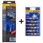 Ignition Lead Set + Spark Plugs Kit Ignition Spark Plug Lead Bosch | B6080HP+P4-6