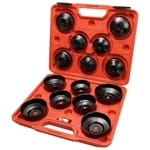Cup Type Oil Filter Remover Wrench Socket Tool 14pce Socket Remover Kit | A1075