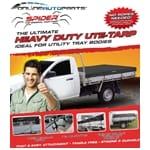 SPIDER Tarp Utility Tray Cover with H/Duty Elastic Cords 2.1m x 2.4m - Ute Tarp - Simple to use | ZPN-09199