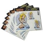 Angel Girl Car Bike Tattoo Vinyl Window Decal Sticker Pack of 6 | CT80005